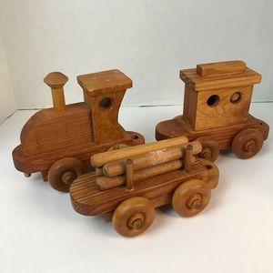 Vintage Wooden Train Set